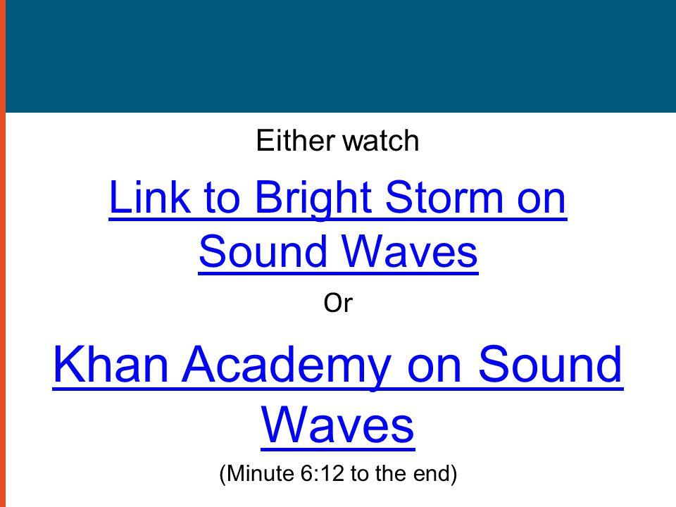 Khan Academy on Sound Waves
