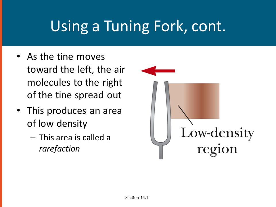 Using a Tuning Fork, cont.