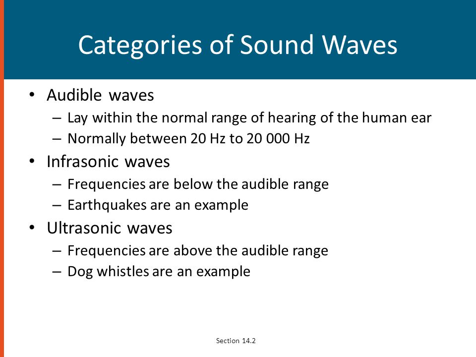 Categories of Sound Waves