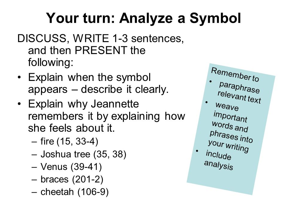 Your turn: Analyze a Symbol