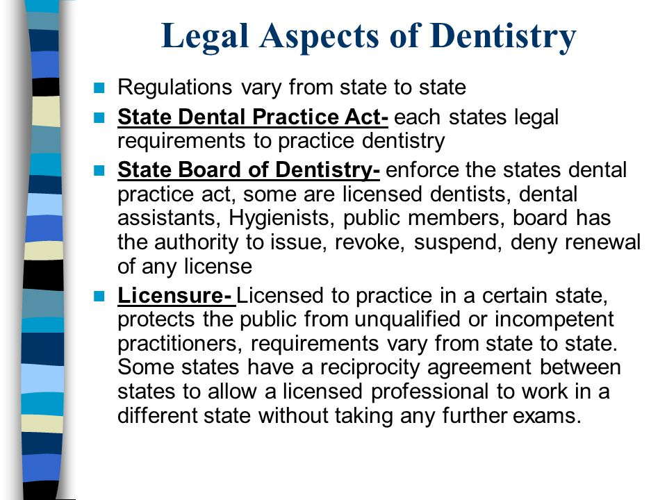 Professional and Legal Aspects of Dental Assisting - ppt