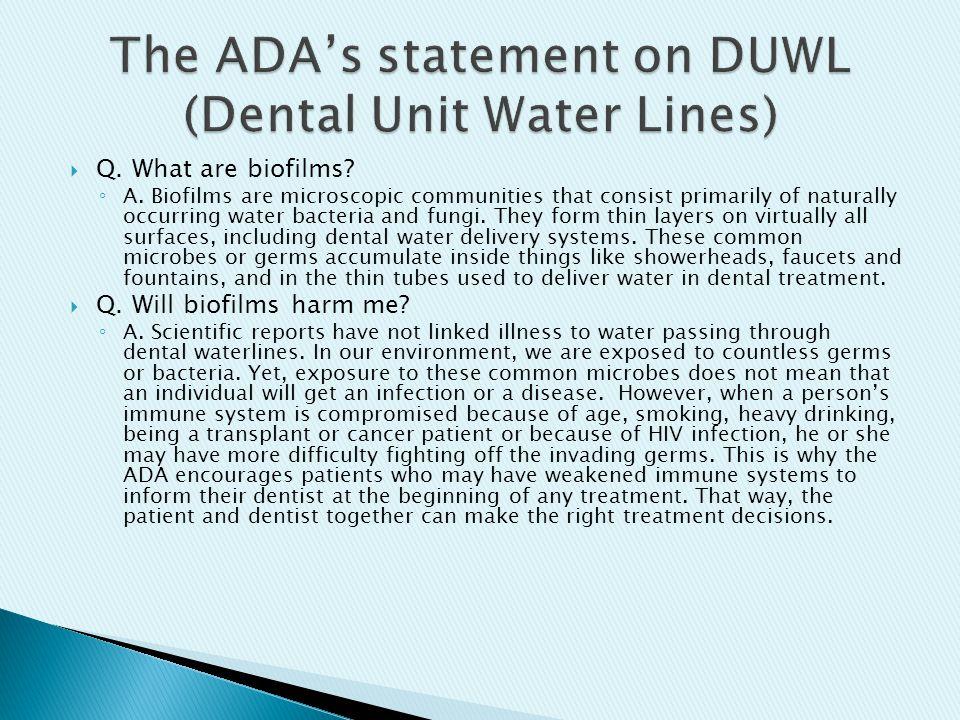 5c0cc541ebaa Dental Unit Waterlines - ppt download