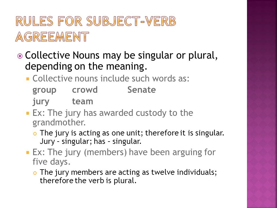 Agreement Subject Verb Pronoun Antecedent Ppt Video Online Download