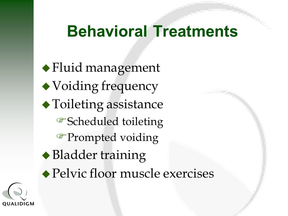 Behavioral Treatments