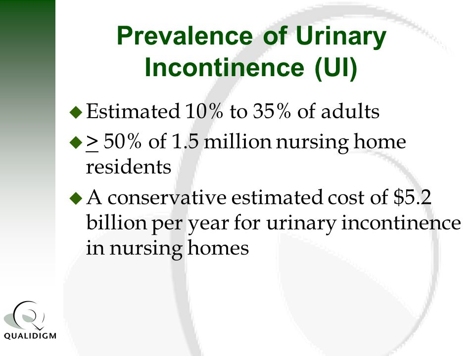 Prevalence of Urinary Incontinence (UI)