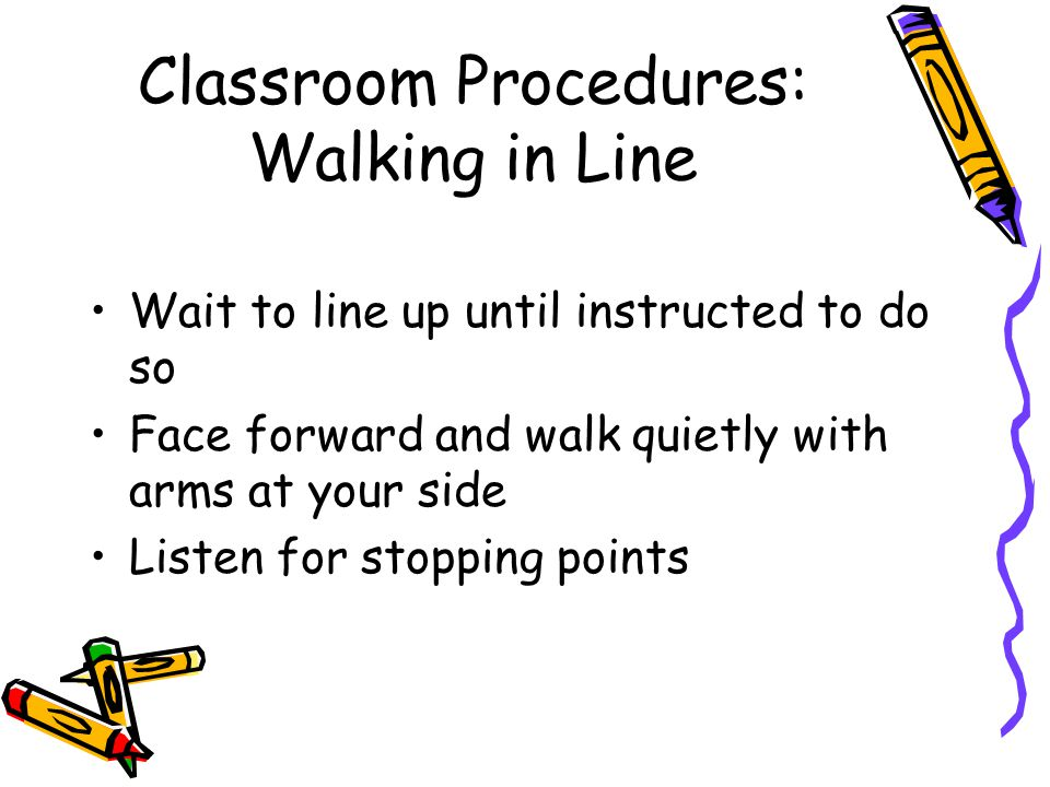 Classroom Procedures: Walking in Line