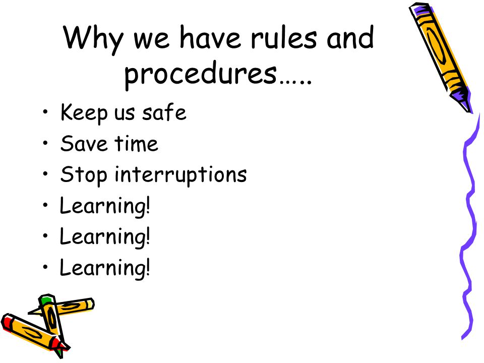Why we have rules and procedures…..