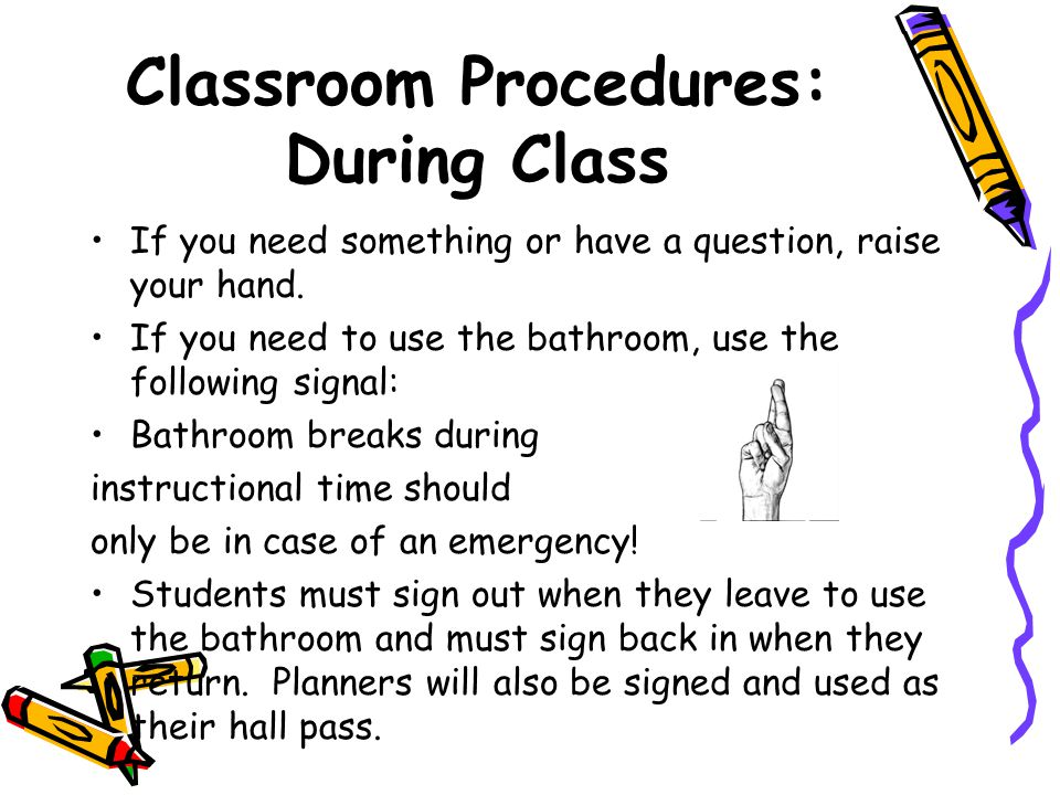 Classroom Procedures: During Class
