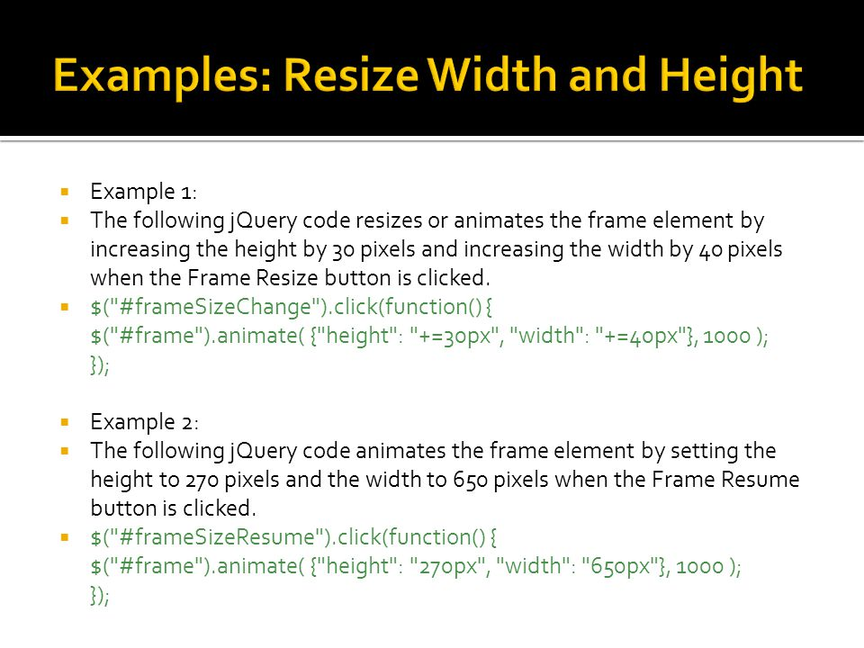 JQuery Effects JQuery Animation  - ppt video online download