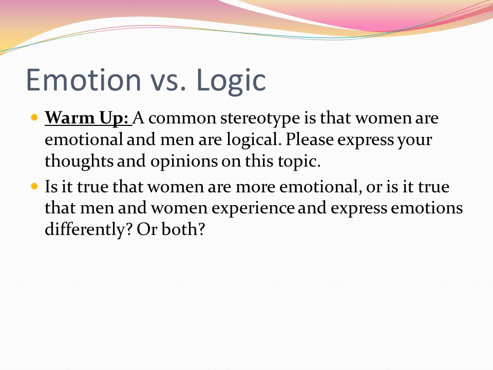 men vs women emotions