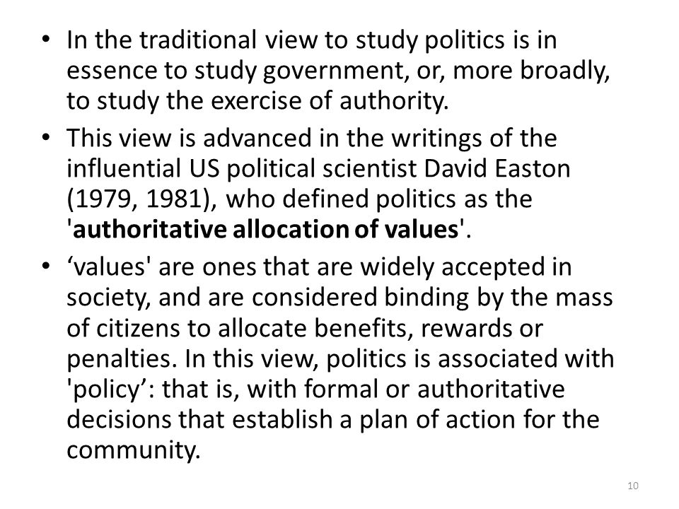 definition of political science by david easton