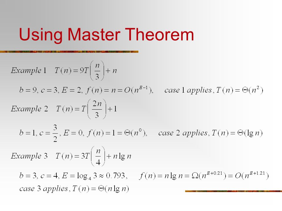 Master Theorem Examples Choice Image Example Cover Letter For Resume