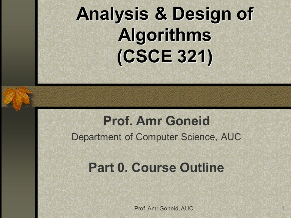 an introduction to the analysis and a definition of computer algorithms (however, algorithms are more than just a branch of computer science, and they are relevant to to most of science, technology and business) computer science is the study of the storage, transformation and transfer of information.