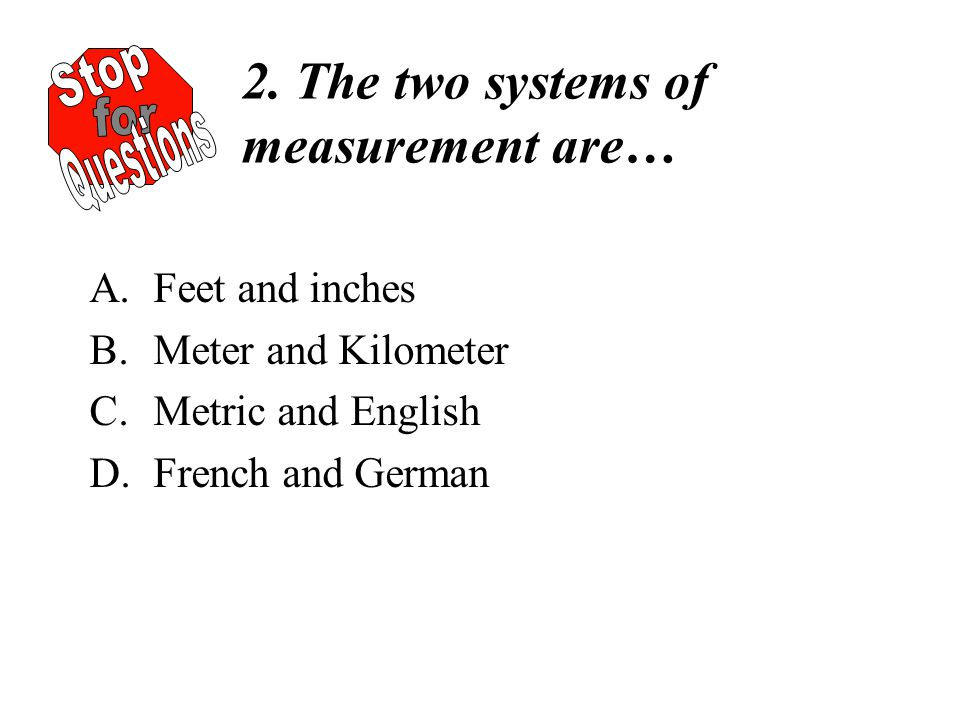 how to say feet measurement in french