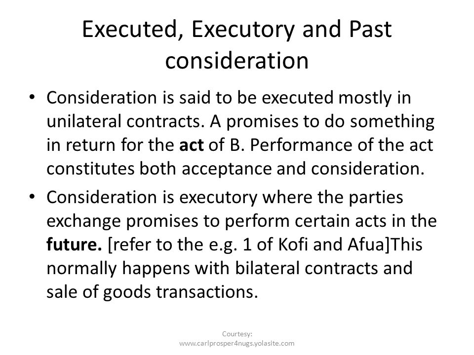 what is executory