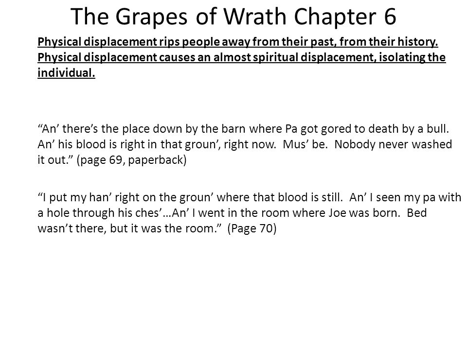 grapes of wrath chapter analysis