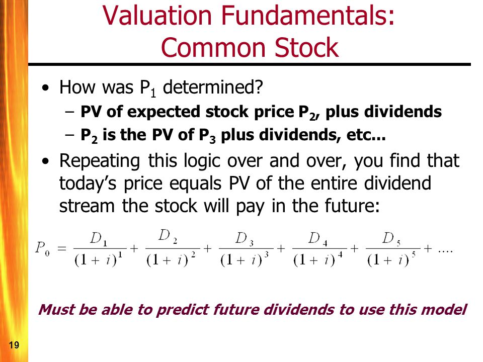 Chapter 5: Stock Valuation - ppt video online download