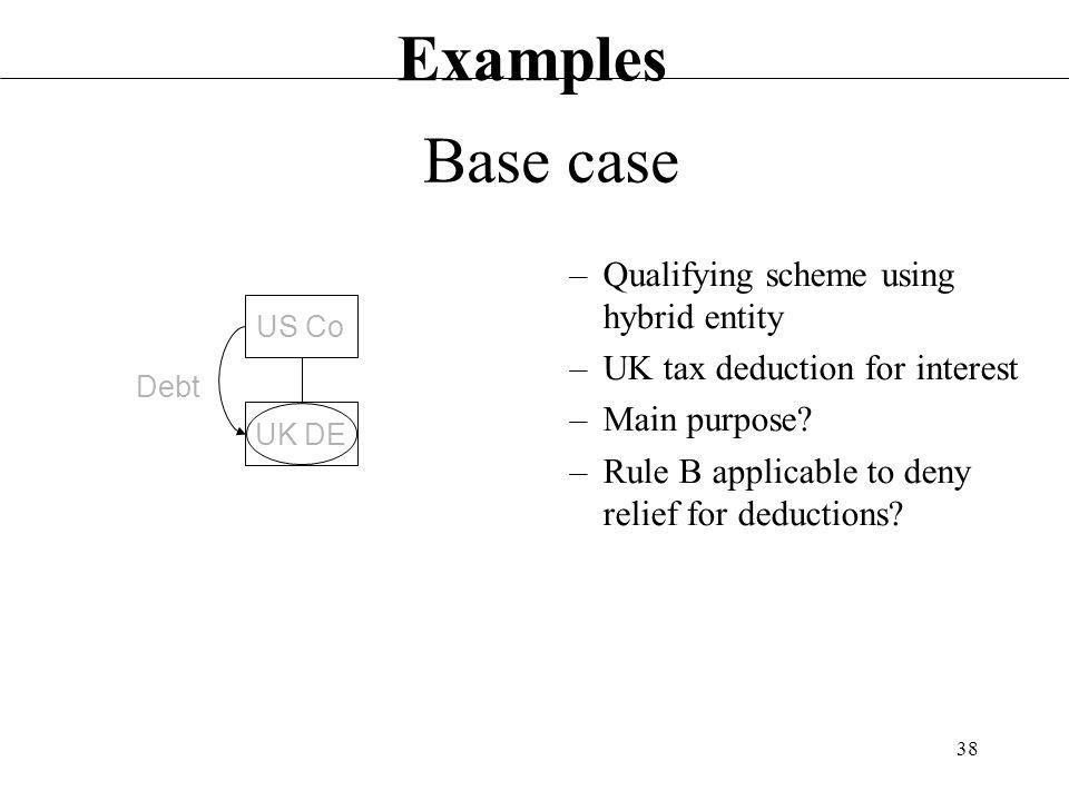 Examples Base Case Qualifying Scheme Using Hybrid Eny