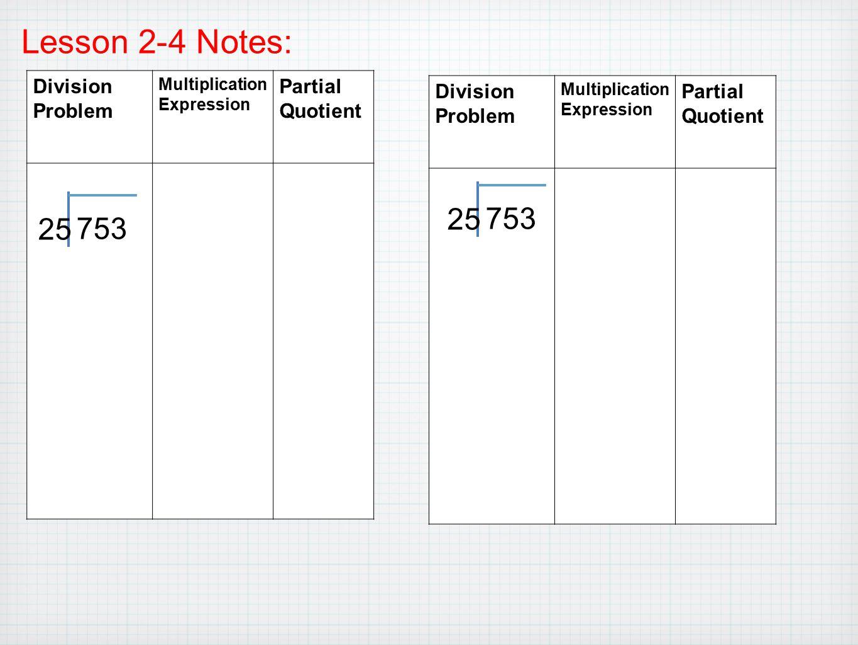 Worksheets Partial Quotients Worksheet chapter 2 divide whole numbers ppt download lesson 4 notes division problem partial quotient