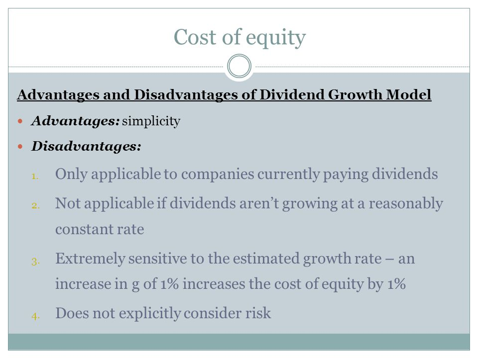 advantages and disadvantages of paying dividends