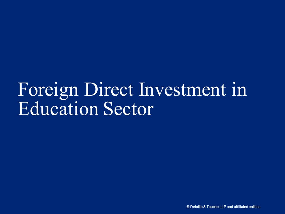 effect of foreign direct investment in the retailing sector Foreign direct investment (fdi) with the expectation that these investments will spur growth and generate employment thus reduce poverty this research is an attempt to assess the impact of such investments in the retail.