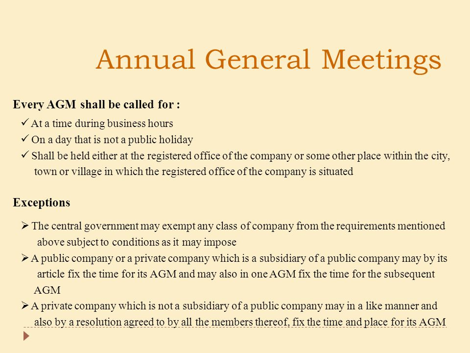 Annual General Meetings