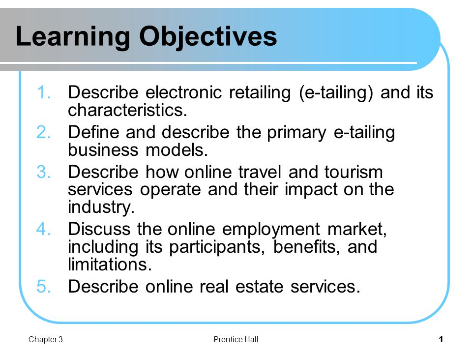 objectives of online shopping