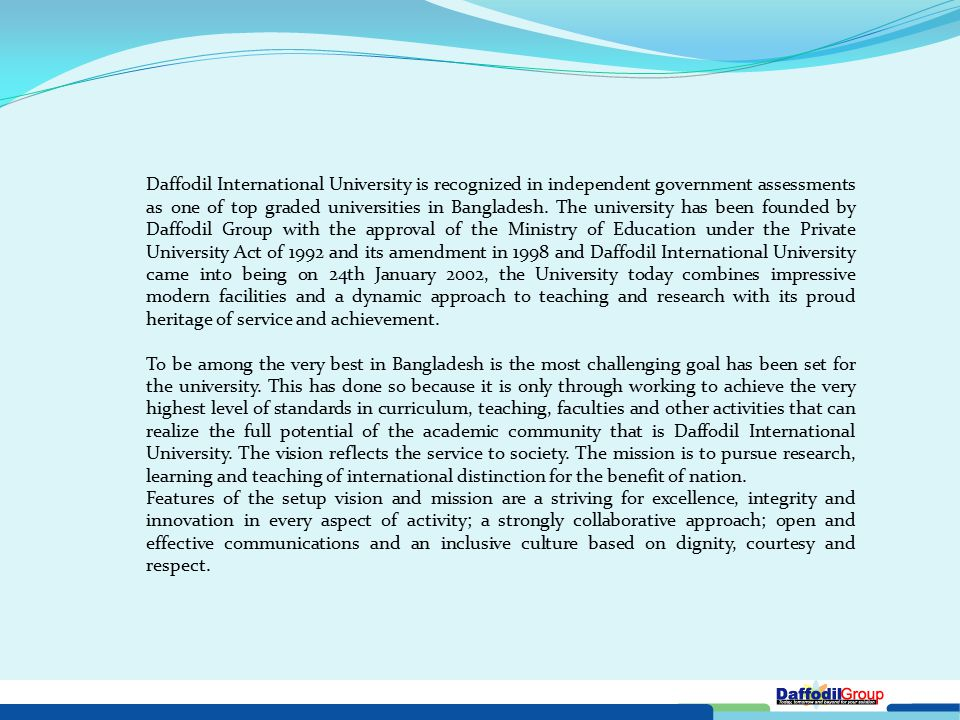 With Worldwide IT Industrial Linkage , Daffodil Group, the