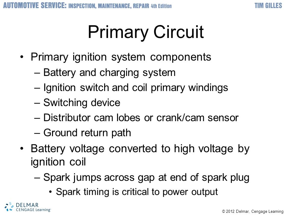 Primary Circuit Primary ignition system components