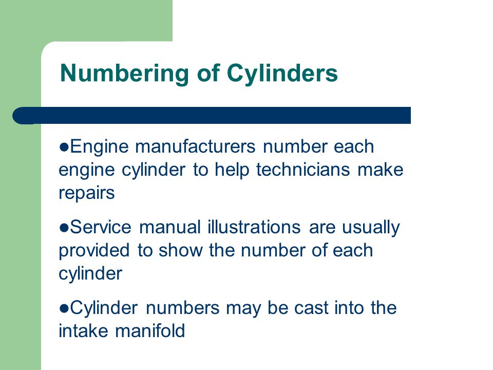 Numbering of Cylinders