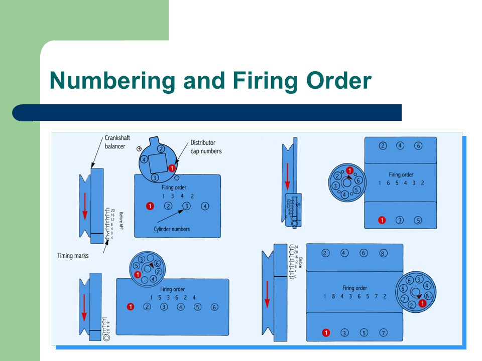 Numbering and Firing Order