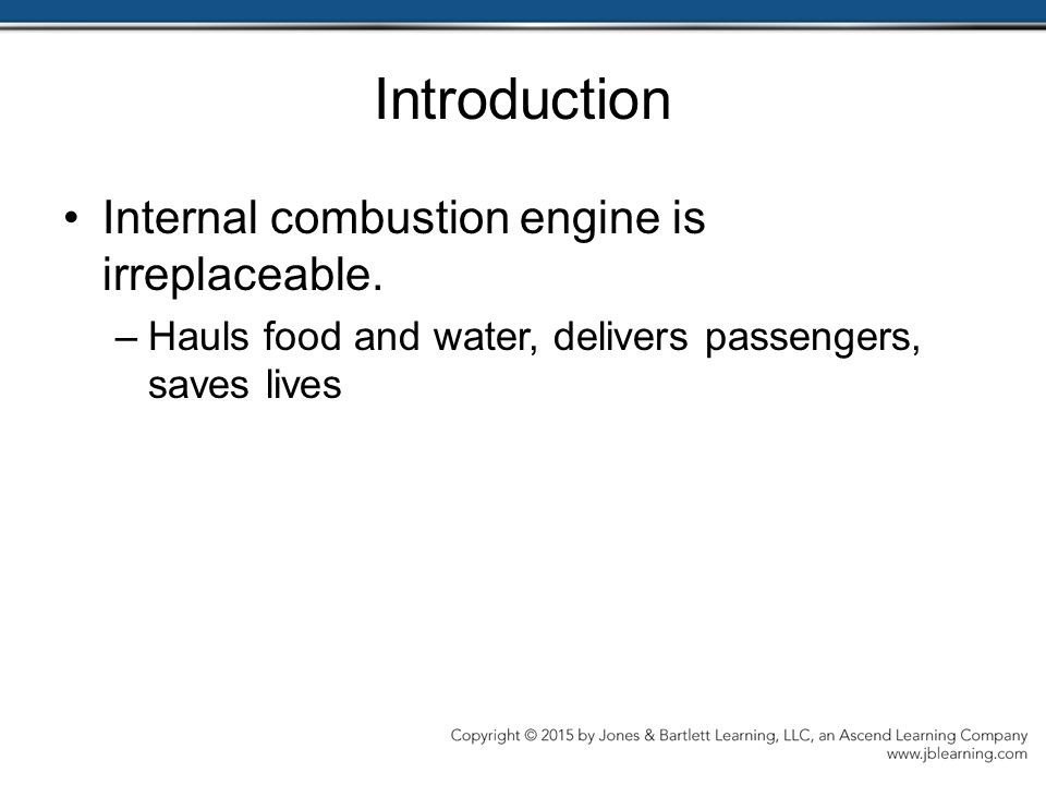 Introduction Internal combustion engine is irreplaceable.