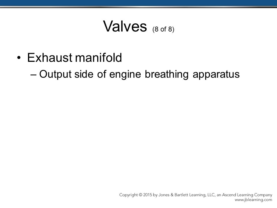 Valves (8 of 8) Exhaust manifold