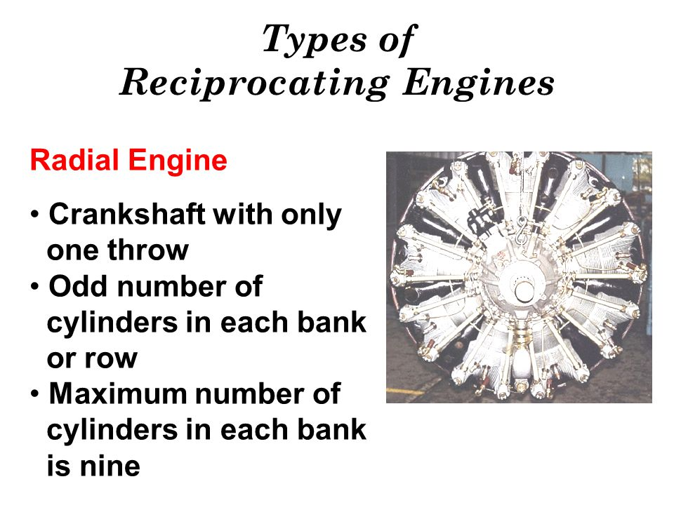 Types of Reciprocating Engines