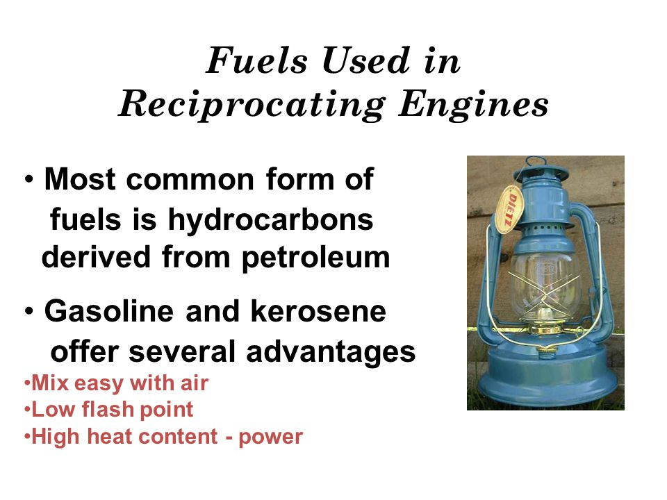 Fuels Used in Reciprocating Engines