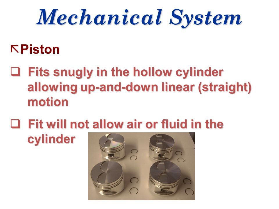 Mechanical System Piston