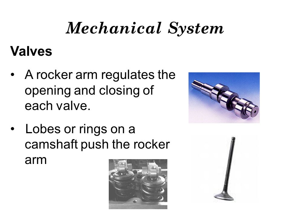 Mechanical System Valves