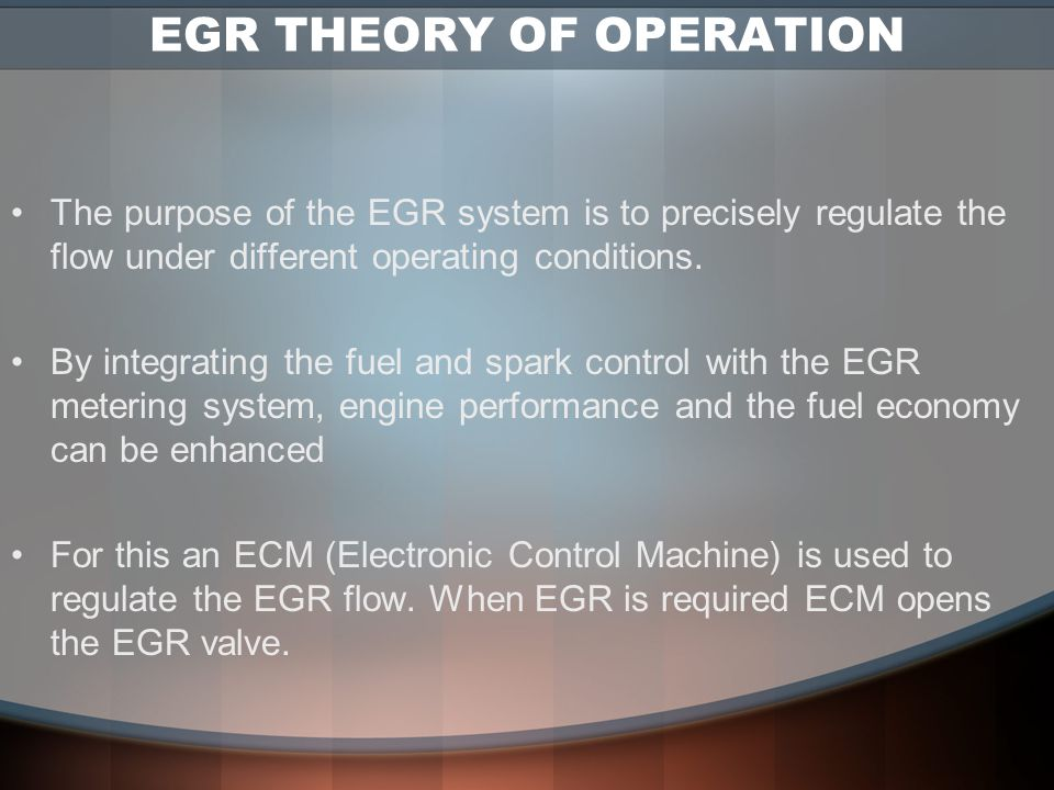 EGR THEORY OF OPERATION