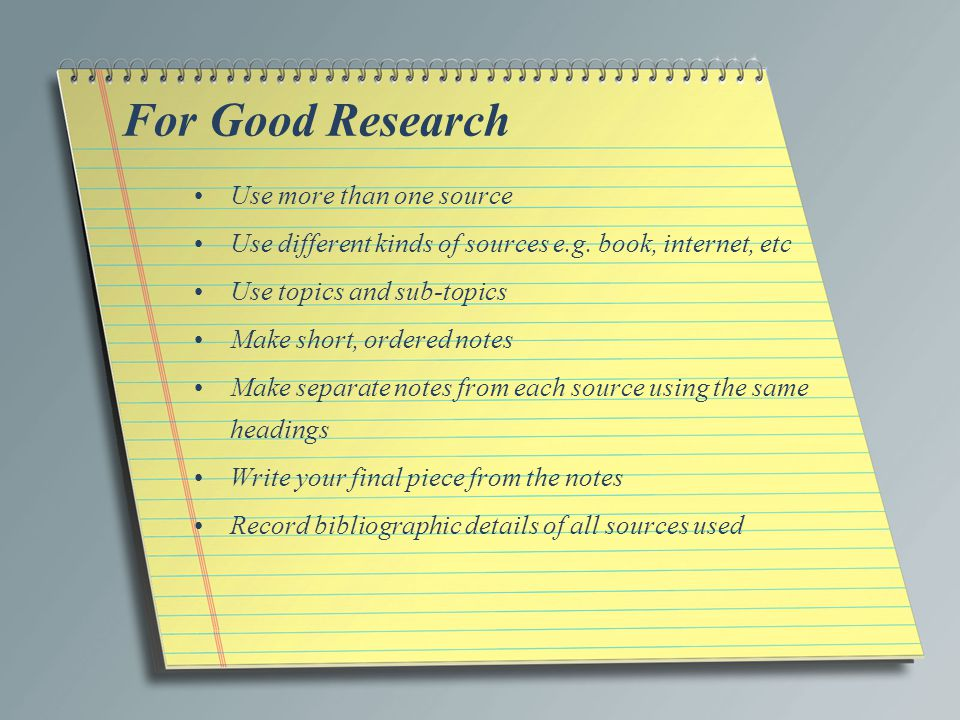 how to make research notes
