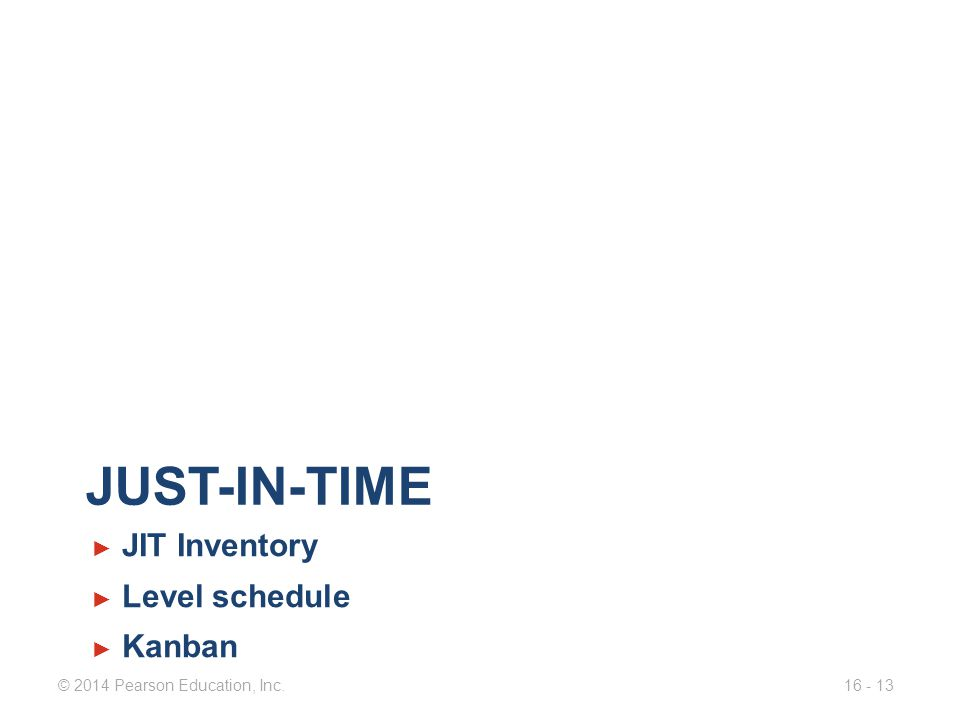 Just-in-time JIT Inventory Level schedule Kanban