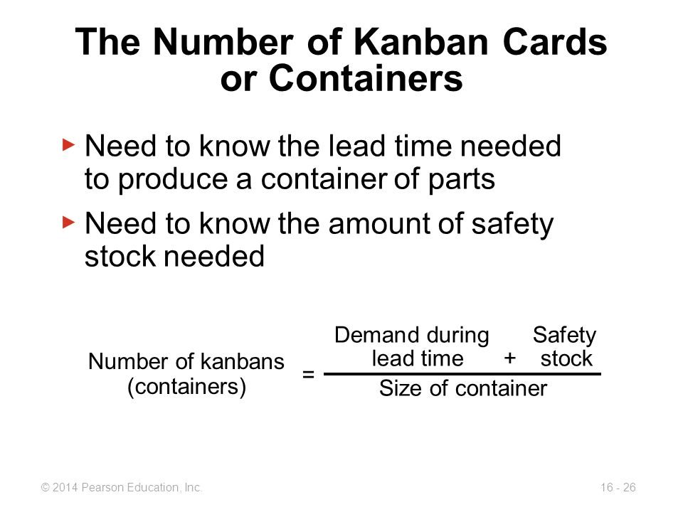 The Number of Kanban Cards or Containers
