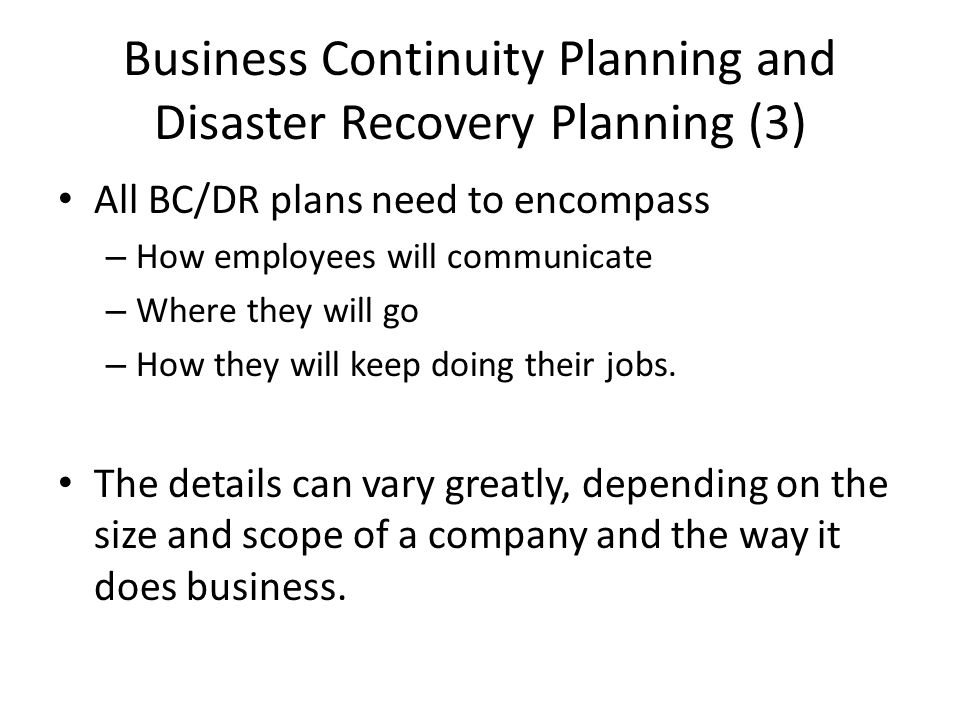 Business Continuity Planning And Disaster Recovery Planning Ppt - Bcdr plan template
