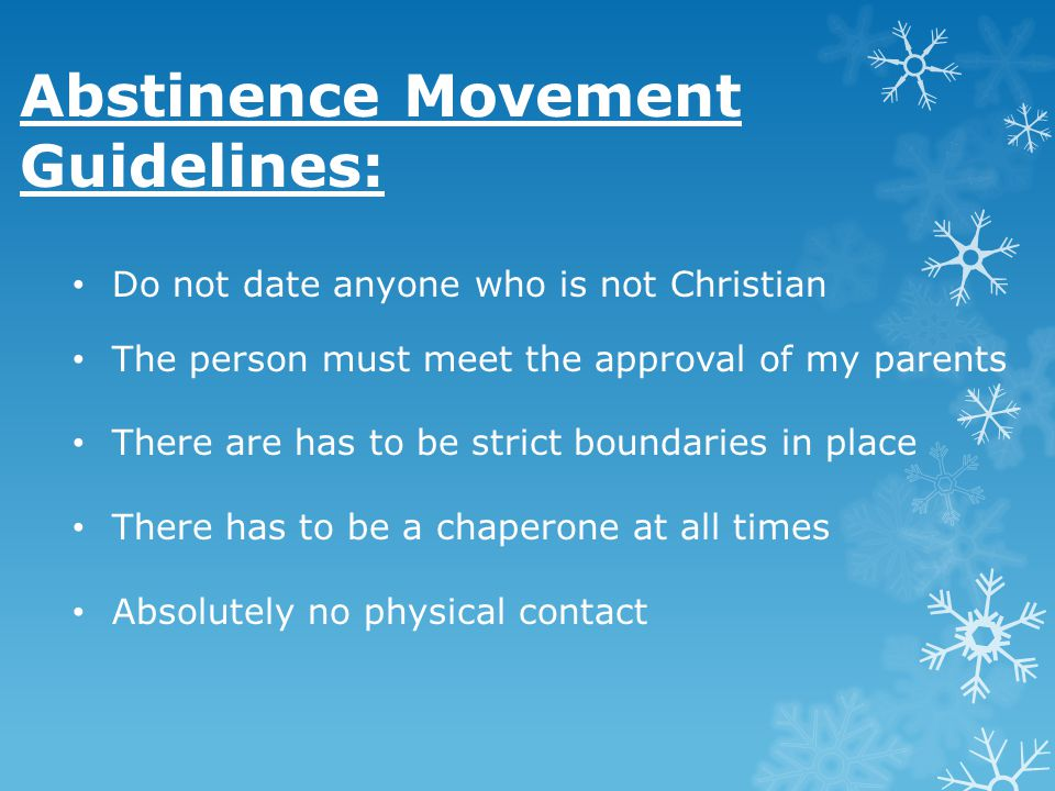 Abstinence Movement Guidelines:
