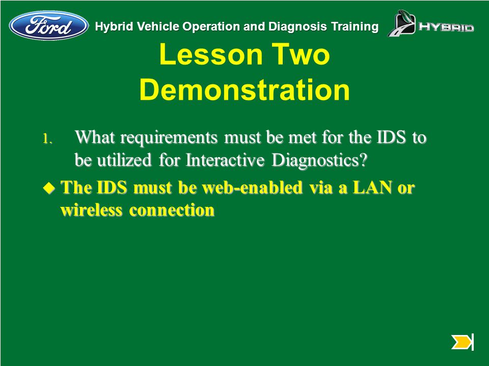 ford ids training