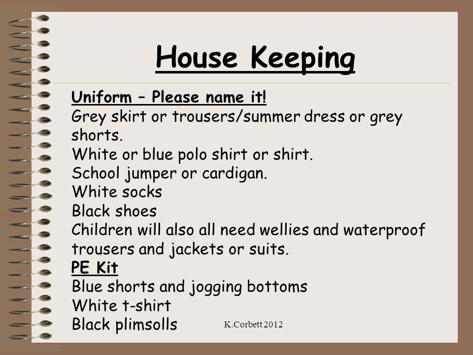 House Keeping Uniform – Please name it!