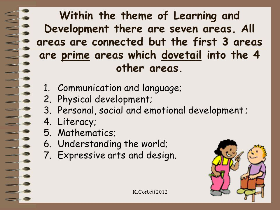 Within the theme of Learning and Development there are seven areas