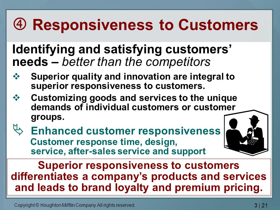  Responsiveness to Customers