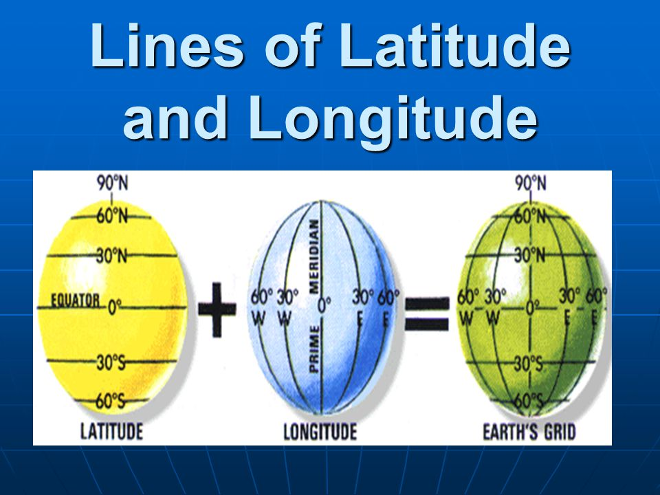 Lines of Latitude and Longitude