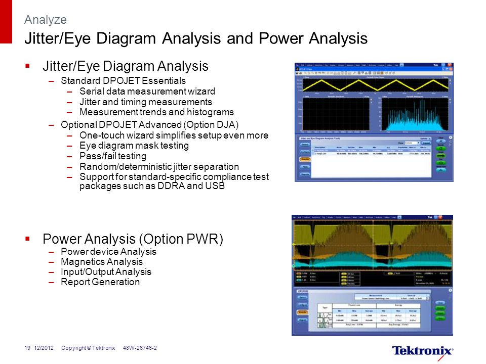 Dpo7000c series oscilloscopes ppt download analyze jittereye diagram analysis and power analysis ccuart Gallery