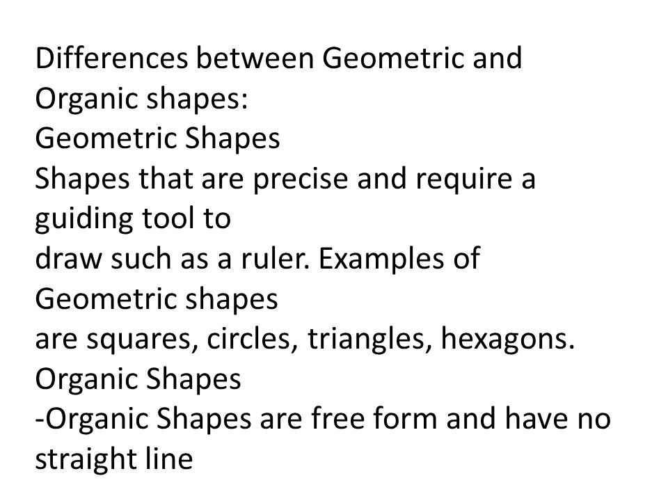 Geometric Shapes And Forms Organic Shapes And Forms Texture Ppt Video Online Download